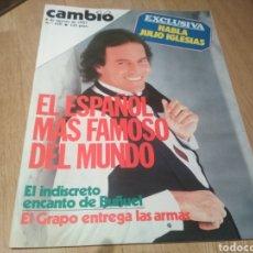 Coleccionismo de Revista Cambio 16: JULIO IGLESIAS LUIS BUÑUEL REVISTA CAMBIO 16 DE 1983. Lote 180141426