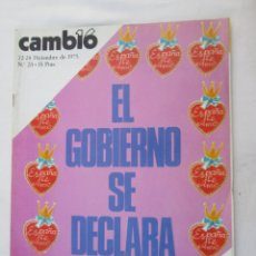 Coleccionismo de Revista Cambio 16: CAMBIO 16 REVISTA Nº 211 22-12-1975 EL GOBIERNO SE DECLARA . Lote 180201616