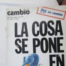 Coleccionismo de Revista Cambio 16: CAMBIO 16 REVISTA Nº 8-12-1975 LA COSA SE PONE EN MARCHA . Lote 180201681