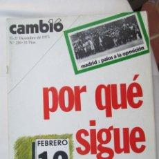 Coleccionismo de Revista Cambio 16: CAMBIO 16 REVISTA Nº 210 15-12-1975 POR QUE SIGUE ARIAS ?. Lote 180201736