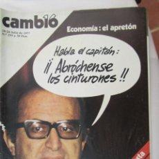 Coleccionismo de Revista Cambio 16: CAMBIO 16 REVISTA Nº 293 18-07-1977 ECONOMIA: EL APRETON . Lote 180201888