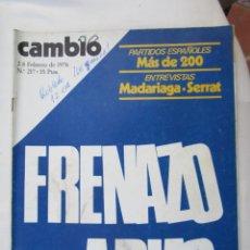 Coleccionismo de Revista Cambio 16: CAMBIO 16 REVISTA Nº 217 2-2-1976 FRENAZO ARIAS. Lote 180201953