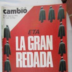 Coleccionismo de Revista Cambio 16: CAMBIO 16 REVISTA Nº 228 19-04-1976 ETA LA GRAN REDADA . Lote 180202197