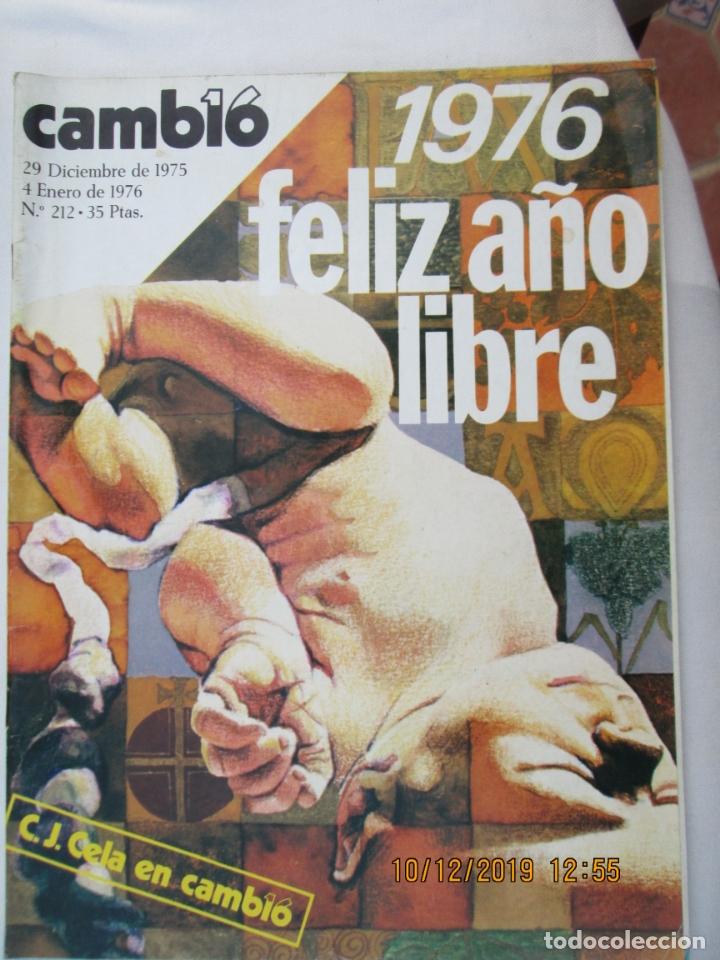 CAMBIO 16 REVISTA Nº 212 29-12-1975 - 1976 FELIZ AÑO LIBRE (Coleccionismo - Revistas y Periódicos Modernos (a partir de 1.940) - Revista Cambio 16)