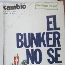Coleccionismo de Revista Cambio 16: CAMBIO 16 REVISTA Nº 226 5-04-1976 EL BUNKER NO SE RINDE . Lote 180202445