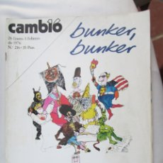 Coleccionismo de Revista Cambio 16: CAMBIO 16 REVISTA Nº 216 26-01-1976 BUNKER , BUNKER . Lote 180202550