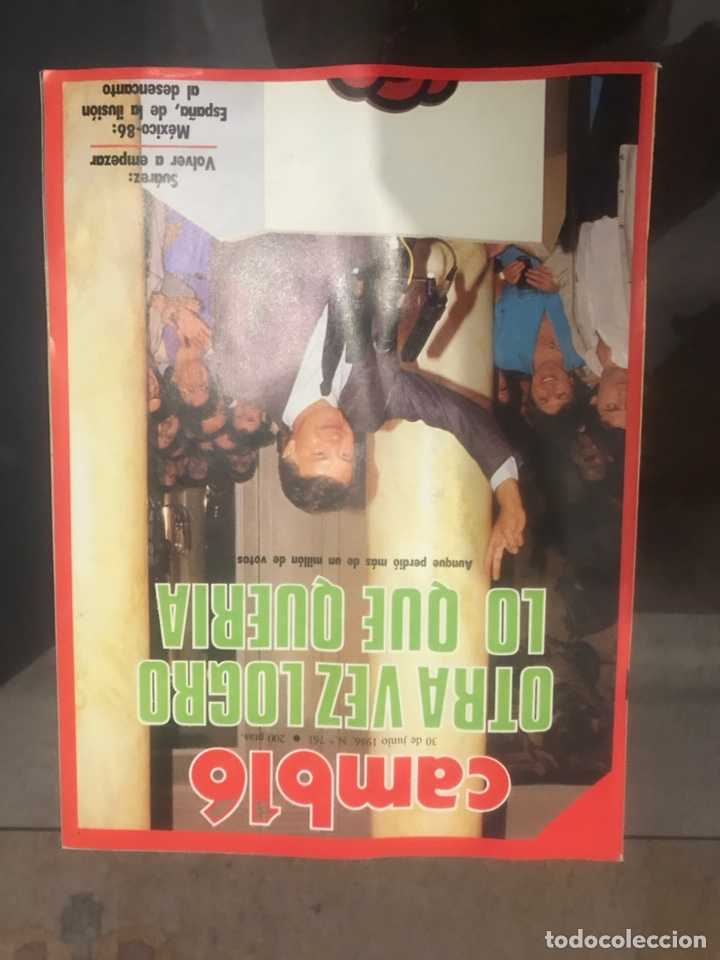 Coleccionismo de Revista Cambio 16: LOTE DE 4 REVISTAS CAMBIO 16 - Foto 6 - 182134562