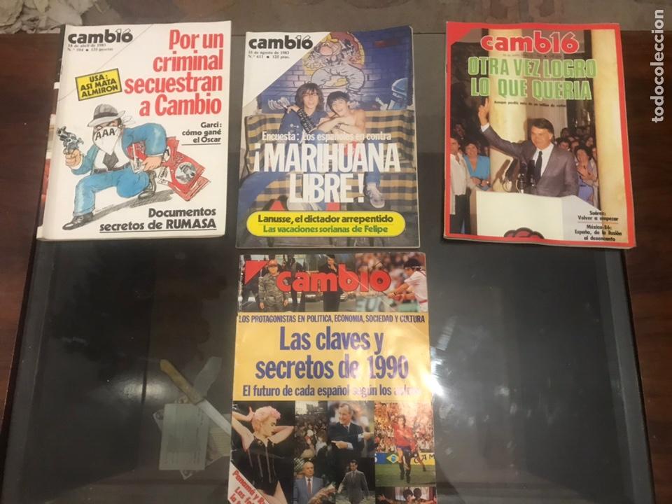 LOTE DE 4 REVISTAS CAMBIO 16 (Coleccionismo - Revistas y Periódicos Modernos (a partir de 1.940) - Revista Cambio 16)