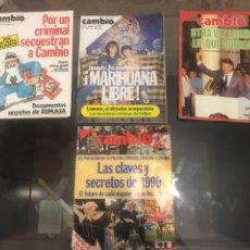 Coleccionismo de Revista Cambio 16: LOTE DE 4 REVISTAS CAMBIO 16. Lote 182134562