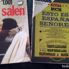 Coleccionismo de Revista Cambio 16: DOS REVISTAS CAMBIO16 SOBRE EL PROCESO 1001, AÑO 1975 Y ESTO ES ESPAÑA SEÑORES 1978. Lote 182222091