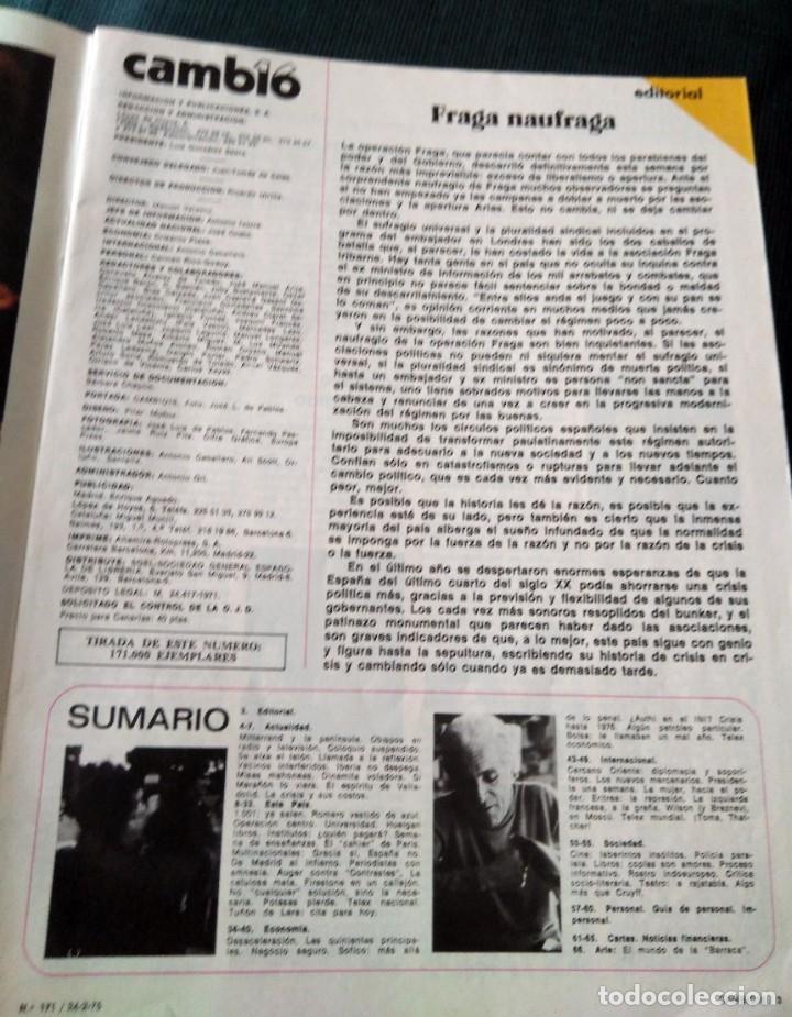 Coleccionismo de Revista Cambio 16: dos revistas Cambio16 sobre el Proceso 1001, año 1975 y Esto es España señores 1978 - Foto 3 - 182222091