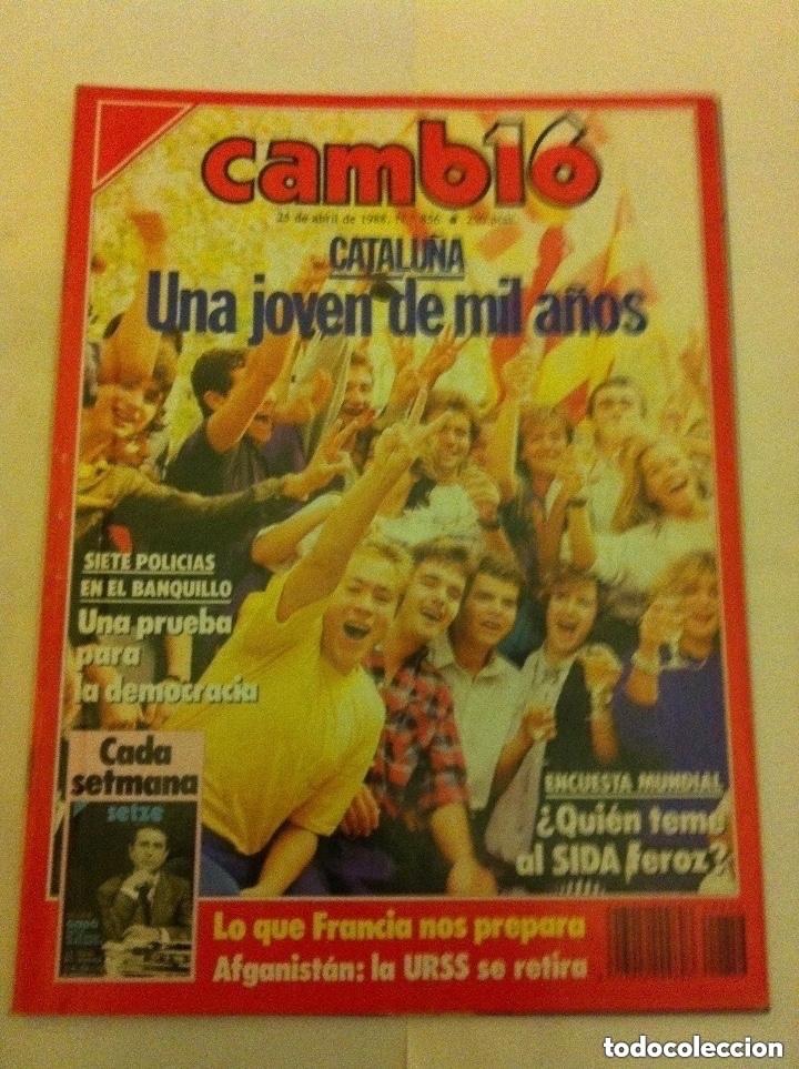 CAMBIO 16 - Nº. 856 - AÑO 1988 - CATALUÑA, UNA JOVEN DE MIL AÑOS (Coleccionismo - Revistas y Periódicos Modernos (a partir de 1.940) - Revista Cambio 16)