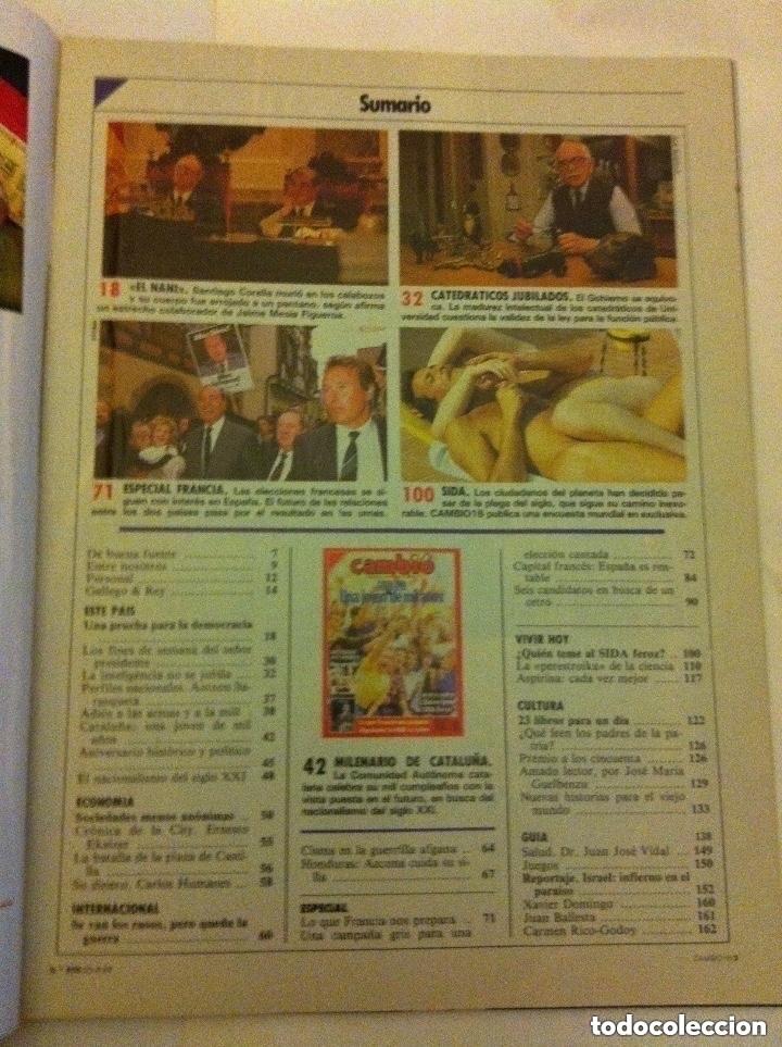 Coleccionismo de Revista Cambio 16: cambio 16 - nº. 856 - año 1988 - Cataluña, una joven de mil años - Foto 2 - 182598836