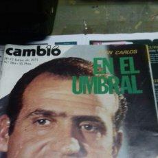 Coleccionismo de Revista Cambio 16: CAMBIO 16. JUAN CARLOS. 1975.184. Lote 183585541