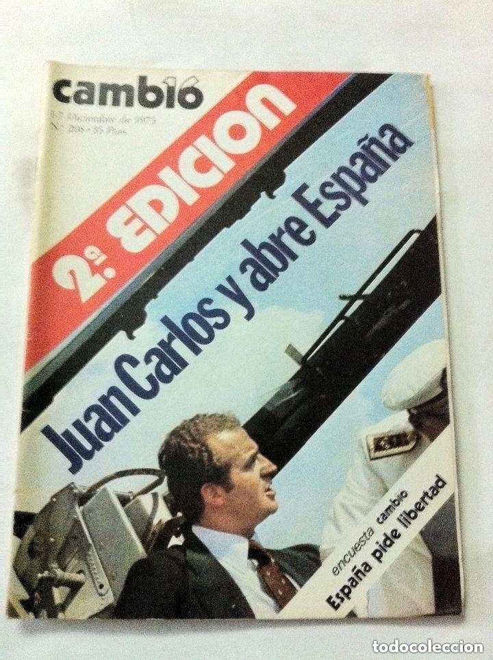 CAMBIO16 - Nº. 208 - AÑO 1975 (Coleccionismo - Revistas y Periódicos Modernos (a partir de 1.940) - Revista Cambio 16)