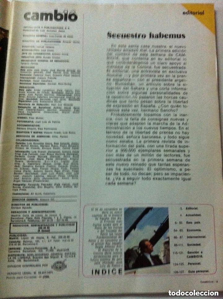Coleccionismo de Revista Cambio 16: cambio16 - nº. 208 - año 1975 - Foto 3 - 183817733