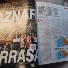 Coleccionismo de Revista Cambio 16: REVISTA CAMBIO 16 N° 1476 - ELECCIONES DEL 12 DE MARZO DE 2000. AZNAR ARRASA.. Lote 184787675