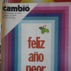 Coleccionismo de Revista Cambio 16: REVISTA CAMBIO 16 DE 1975. Lote 189930272