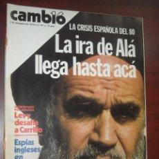 Collectionnisme de Magazine Cambio 16: CAMBIO 16 -AÑO 1979- Nº 417 - LEVY DESAFIA A CARRILLO- SOFIA LOREN- ESPIAS INCLESES. Lote 190418097