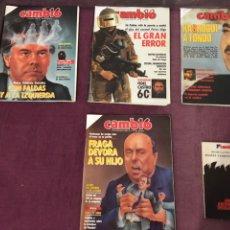 Coleccionismo de Revista Cambio 16: LOTE DE 4 REVISTAS CAMBIO 16 1986. Lote 191236781