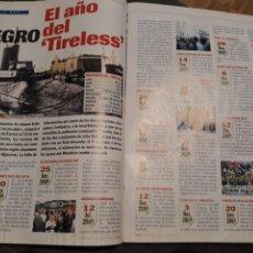 Coleccionismo de Revista Cambio 16: EL AÑO NEGRO DEL TIRELESS . DOS PÁGINAS .AÑO 2001 .. Lote 194231820