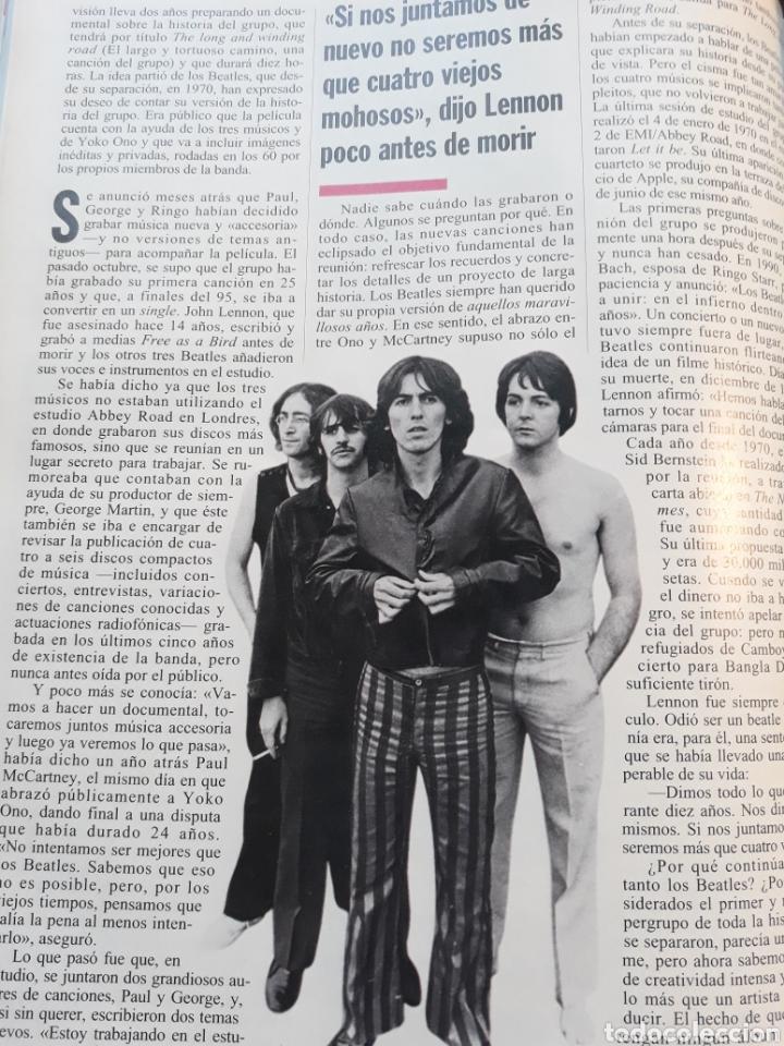 Coleccionismo de Revista Cambio 16: RESUCITAN LOS BEATLES . AÑO 1995 . 3 PAGINAS. - Foto 2 - 194940010