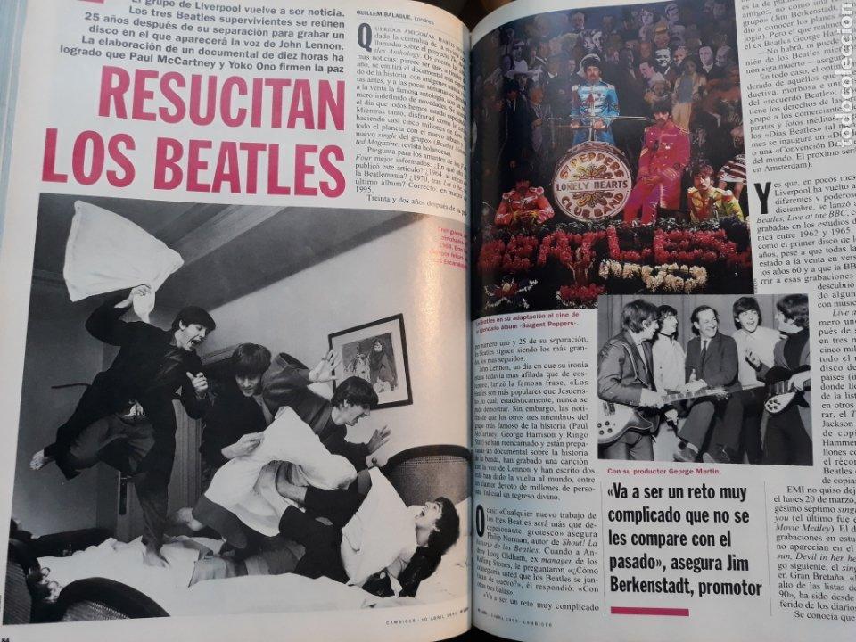 RESUCITAN LOS BEATLES . AÑO 1995 . 3 PAGINAS. (Coleccionismo - Revistas y Periódicos Modernos (a partir de 1.940) - Revista Cambio 16)
