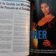 Coleccionismo de Revista Cambio 16: ENTREVISTA A CHER . DOS PAGINAS. AÑO 1995. Lote 194940132