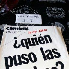 Coleccionismo de Revista Cambio 16: REVISTA CAMBIO 16 NÚMERO 242. Lote 194941772