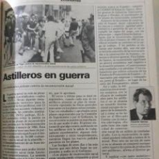 Coleccionismo de Revista Cambio 16: ASTILLEROS EN GUERRA . ENFRENTAMIENTOS EN VIGO AÑO 1984 . PAGINA. Lote 195022096