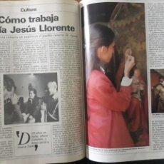 Coleccionismo de Revista Cambio 16: LA NOVIA DE GUERRA RESTAURA UN CUADRO EN AGAETE , CANARIAS .. Lote 195045192