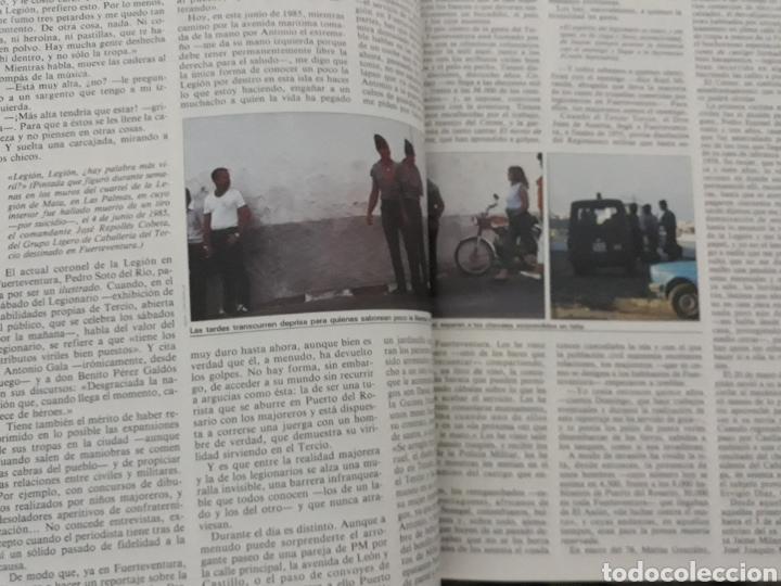 Coleccionismo de Revista Cambio 16: CASI DIEZ AÑOS DE LA LEGION EN FUERTEVENTURA. REPORTAJE DE 6 PAGINAS DEL AÑO 1985 - Foto 2 - 195238538