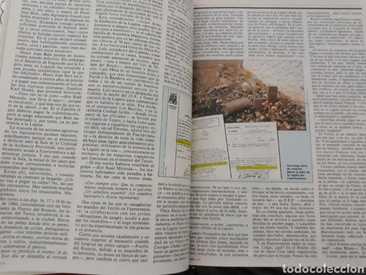 Coleccionismo de Revista Cambio 16: CASI DIEZ AÑOS DE LA LEGION EN FUERTEVENTURA. REPORTAJE DE 6 PAGINAS DEL AÑO 1985 - Foto 3 - 195238538