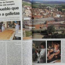 Coleccionismo de Revista Cambio 16: AGUILAR DE CAMPOO , UN PUEBLO QUE HUELE A GALLETAS . 4 PAGINAS AÑO 1985. Lote 195240637