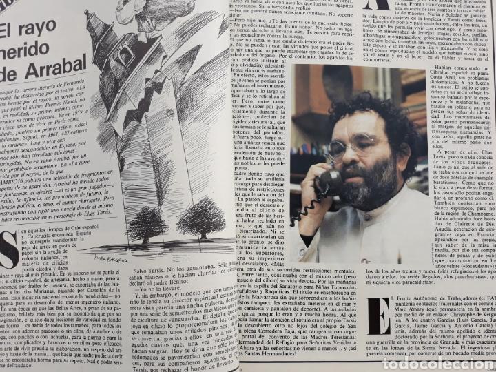 EL RAYO HERIDO DE ARRABAL . REPORTAJE DE 4 PAGINAS . DE FERNANDO ARRABAL . AÑO 1983 (Coleccionismo - Revistas y Periódicos Modernos (a partir de 1.940) - Revista Cambio 16)