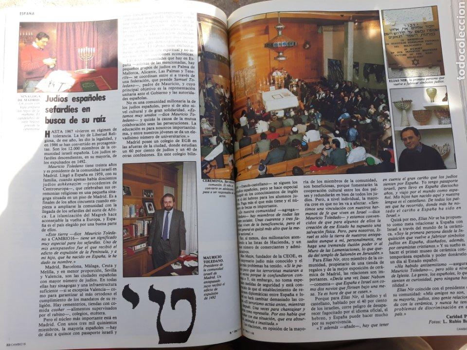 Coleccionismo de Revista Cambio 16: ESPAÑA - ISRAEL . RELACIONES PELIGROSAS . REPORTAJE DE 6 PAGINAS AÑO 1986 . - Foto 3 - 196757426