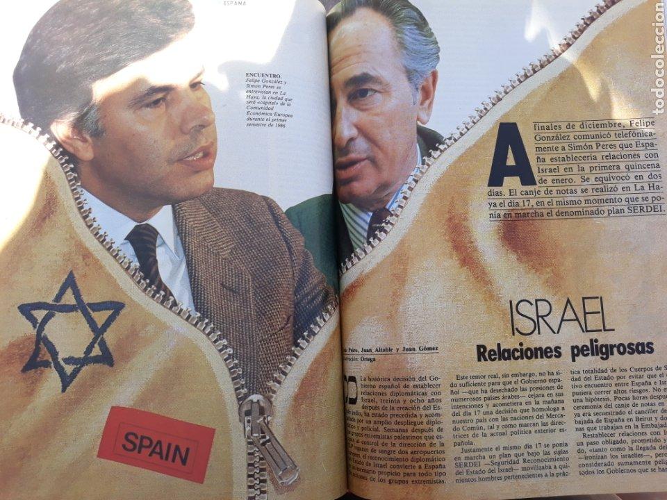 ESPAÑA - ISRAEL . RELACIONES PELIGROSAS . REPORTAJE DE 6 PAGINAS AÑO 1986 . (Coleccionismo - Revistas y Periódicos Modernos (a partir de 1.940) - Revista Cambio 16)