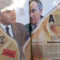 Coleccionismo de Revista Cambio 16: ESPAÑA - ISRAEL . RELACIONES PELIGROSAS . REPORTAJE DE 6 PAGINAS AÑO 1986 .. Lote 196757426