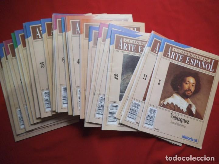 LOTE DE 25 CUADERNOS DE ARTE ESPAÑOL. (Coleccionismo - Revistas y Periódicos Modernos (a partir de 1.940) - Revista Cambio 16)