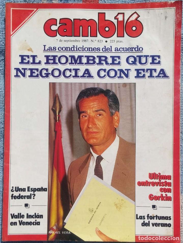 REVISTA CAMBIO 16, Nº 823, 7 DE SEPTIEMBRE 1987 /// VANGUARDIA BLANCO NEGRO DESTINO ÉPOCA GACETA (Coleccionismo - Revistas y Periódicos Modernos (a partir de 1.940) - Revista Cambio 16)