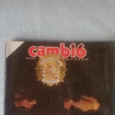 Coleccionismo de Revista Cambio 16: CAMBIO16 -MAYO 1986 - Nº 755 - DOSSIER NEGRO DE LA POLICIA (VER SUMARIO EN FOTOS). Lote 198921697