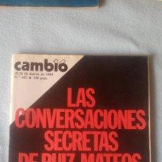 Coleccionismo de Revista Cambio 16: CAMBIO16 -MARZO 1984 - Nº 642 - CONVERSACIONES SECRETAS RUIZ MATEOS (VER SUMARIO EN FOTOS). Lote 198921921