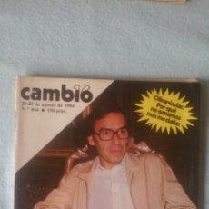 Coleccionismo de Revista Cambio 16: CAMBIO16 - AGOSTO 1984 - Nº 664 - EL PAÍS EN MANOS DE ALFONSO GUERRA (VER SUMARIO EN FOTOS). Lote 198922217