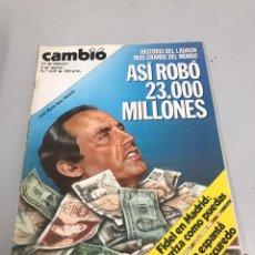 Coleccionismo de Revista Cambio 16: CAMBIO 16. Lote 200601707