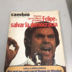 Coleccionismo de Revista Cambio 16: CAMBIO 16. Lote 200659630