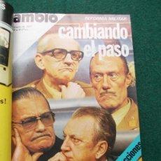 Coleccionismo de Revista Cambio 16: LOTE 12 REVISTAS CAMBIO 16 DE ENERO A MARZO DE 1977 ENCUADERNADAS. Lote 201850481
