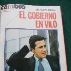 Coleccionismo de Revista Cambio 16: LOTE REVISTAS CAMBIO 16 ENCUADERNADAS DESDE EL Nº 293 AL 310 JULIO/NOVIEMBRE 1977. Lote 202307585