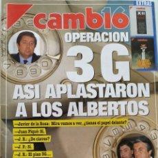 Coleccionismo de Revista Cambio 16: REVISTA CAMBIO 16 Nº 1070 CAMARÓN DE LA ISLA PEDRO ALMODÓVAR VATICANO CARMEN TAPIA MARIO CONDE. Lote 203181745