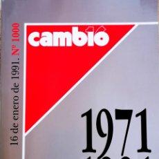 Coleccionismo de Revista Cambio 16: CAMBIO 16 - 1971 1991 - ESPECIAL 20 AÑOS. Lote 204178092