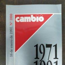 Coleccionismo de Revista Cambio 16: CAMBIO 16. Nº 1000. 1991. Lote 204549990